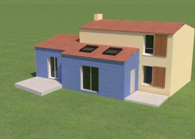 Plan 3D : surélévation de maison à La Plaine-sur-Mer