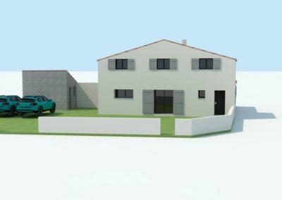 Plan 3D : rénovation d'un corps de ferme à Préfailles