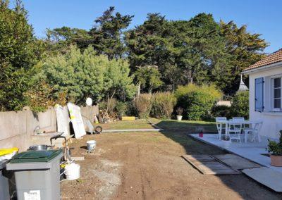 Construction de maison neuve à Préfailles - Avant